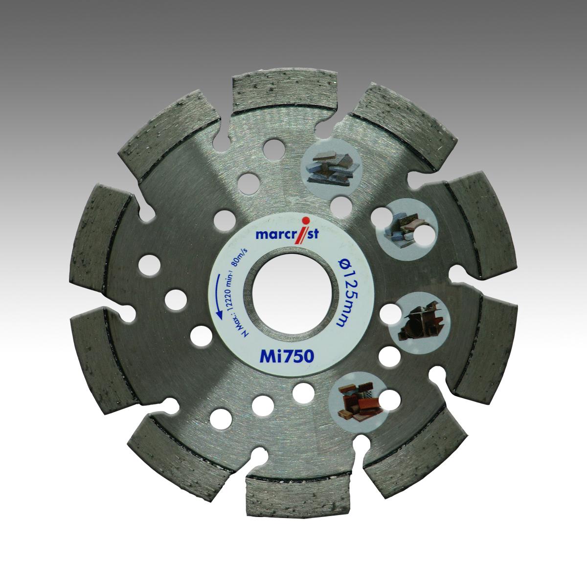 Marcrist BF850 115mm x 22,23mm Diamant-Trennscheibe Beton Granit Naturstein
